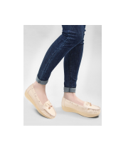 Action Women Loafer Shoes LSN012-Cream