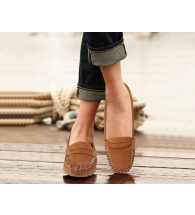 Action Women Loafer Shoes LSN04-Tan